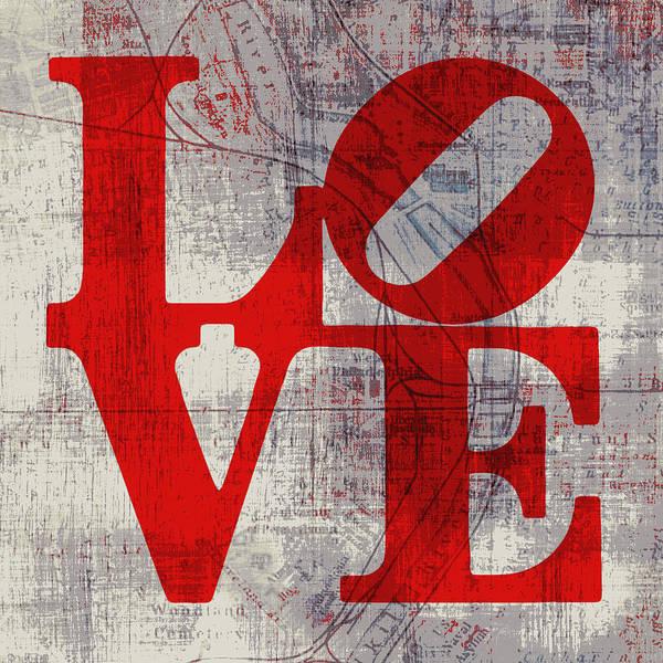 Brotherly Love Digital Art - Philly Love V8 by Brandi Fitzgerald