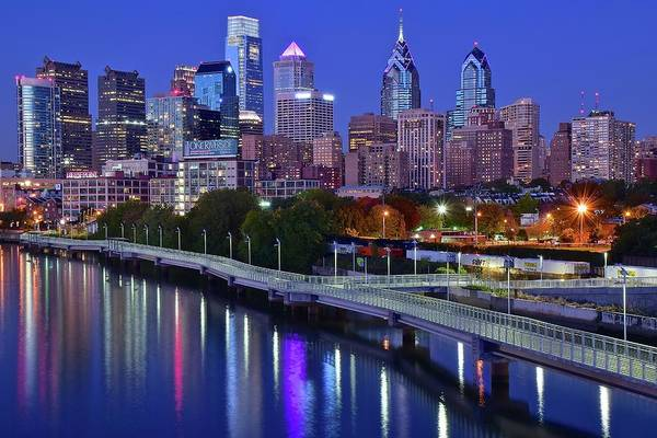 Delaware Park Wall Art - Photograph - Philly Nightscape by Frozen in Time Fine Art Photography