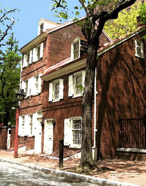 Brick House Mixed Media - Philly Row House 2 by Paul Barlo
