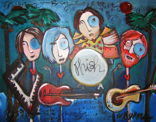 Painting - Phish At Big Cypress by Laurie Maves ART