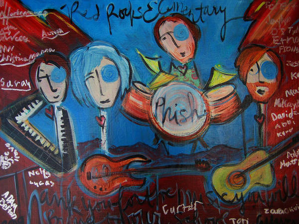 Painting - Phish For Red Rocks Amphitheater by Laurie Maves ART