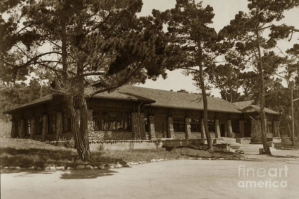 Photograph - Phoebe A Hearst Social Hall Asilomar Pacific Grove Circa 1925 by California Views Archives Mr Pat Hathaway Archives
