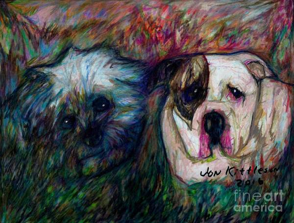 Drawing - Phoebe And Ace by Jon Kittleson