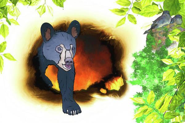 Phoebe Digital Art - Phoebes And Bears by John Haldane