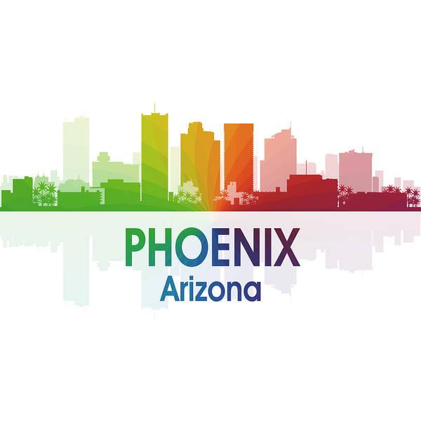 Digital Art - Phoenix Az 1 Squared by Angelina Tamez