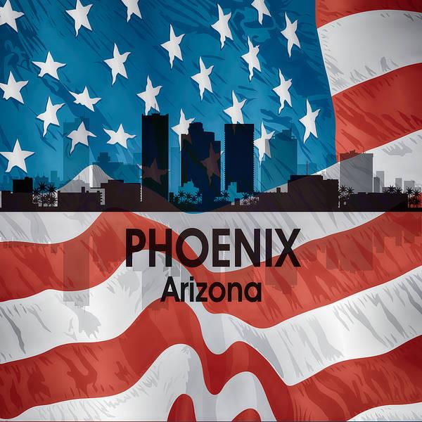 Digital Art - Phoenix Az American Flag Squared by Angelina Tamez