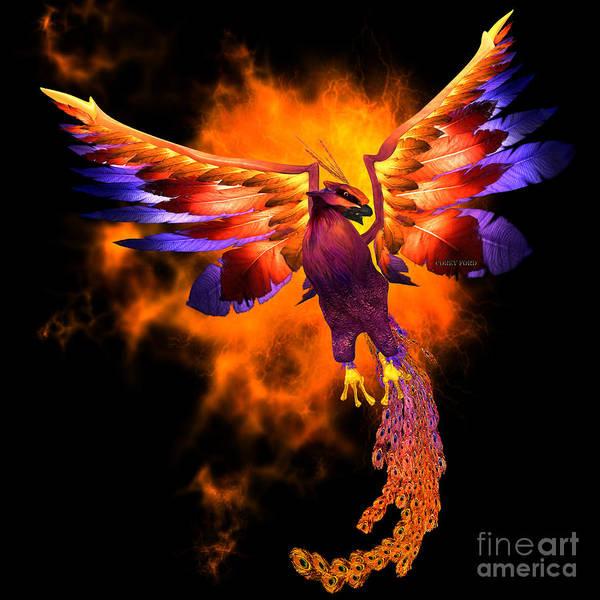 Vertebrate Painting - Phoenix Bird by Corey Ford