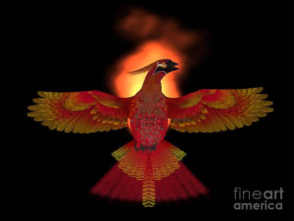 Reborn Wall Art - Painting - Phoenix Bird Fire by Corey Ford