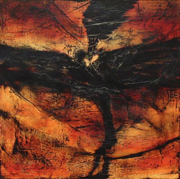 Arisen Painting - Phoenix by Cindy Johnston