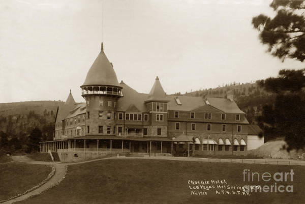Photograph - Phoenix Hotel Las Vegas Hot Springs New Mexico 1890 by California Views Archives Mr Pat Hathaway Archives