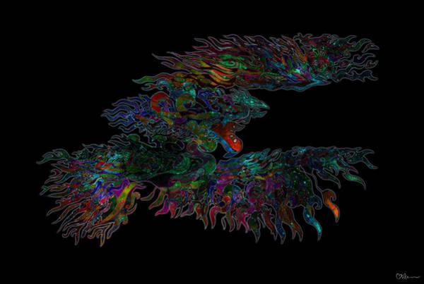 Wall Art - Painting - Phoenix Rising Galaxy by Miko At The Love Art Shop