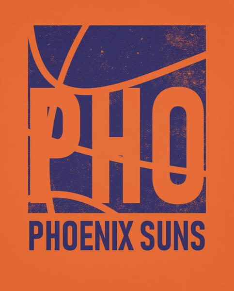 Sun Mixed Media - Phoenix Suns City Poster Art by Joe Hamilton