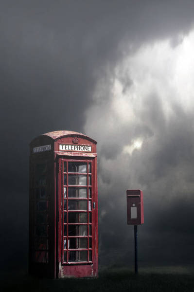 Phone Booth Photograph - Phone Box With Letter Box by Joana Kruse