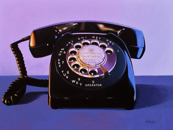 Dial Painting - Phone II by Henry Balzer