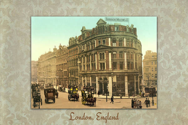 Photograph - Photochrome Of Holborn Viaduct, London, England by Peggy Collins