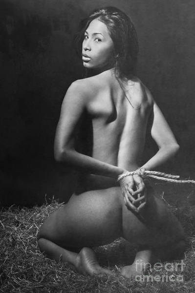 Photograph - Photograph Bondage Style Nude Woman #1392m by William Langeveld