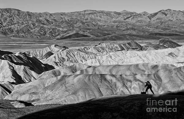 Gully Photograph - Photographer Catching The Perfect Shot Of Sunrise In Death Valley. by Jamie Pham