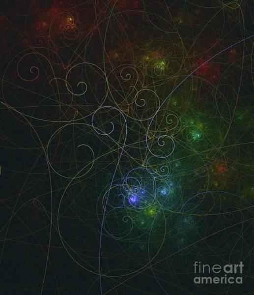 Fibonacci Spiral Digital Art - Photons Of Life by Raphael Terra
