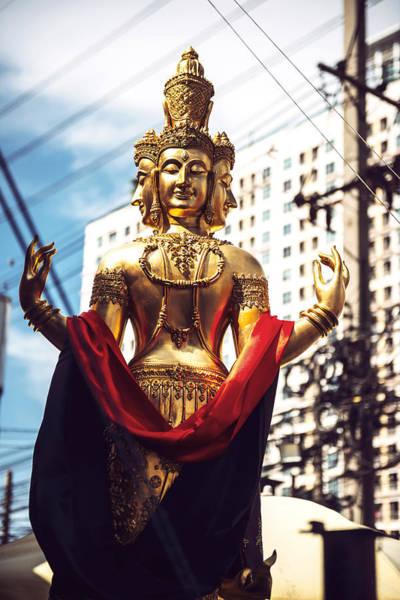 Phra Phrom Photograph - Phra Phrom Statue In Bangkok Thailand by Eduardo Huelin