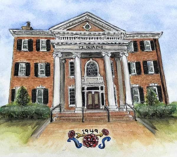 Wall Art - Painting - Pi Beta Phi by Starr Weems