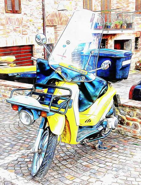 Photograph - Piaggio Poste Italiene by Dorothy Berry-Lound