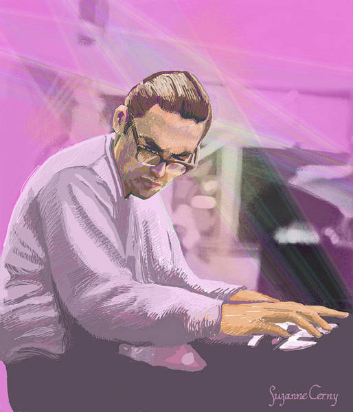 Digital Art - Pianist 2 by Suzanne Cerny