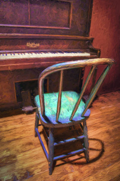 Player Piano Photograph - Piano And Chair - Vintage by Nikolyn McDonald