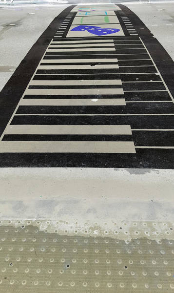 Photograph - Piano Crosswalk Inverted by Rob Hans