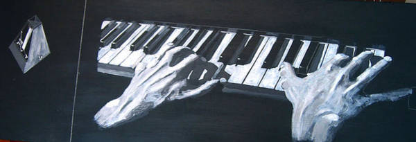 Painting - Piano Hands Plus Metronome by Richard Le Page