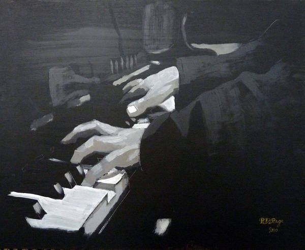 Painting - Piano Hands by Richard Le Page