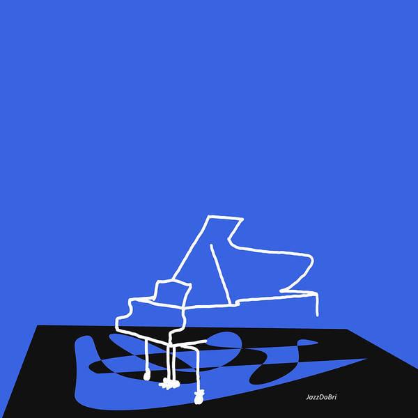Digital Art - Piano In Blue by David Bridburg