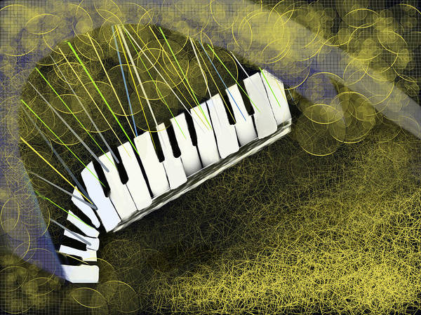Digital Art - Piano Inspirations by Dick Bourgault