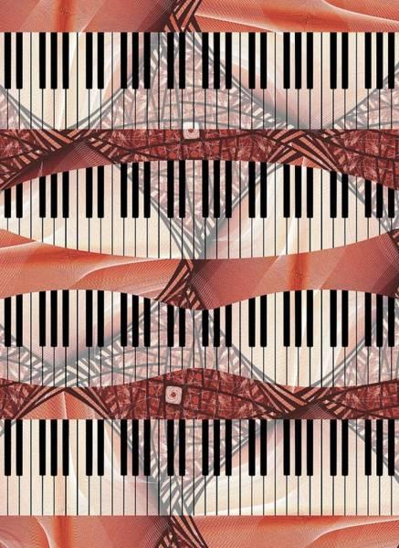 Digital Art - Piano - Keyboard - Musical Instruments by Anastasiya Malakhova