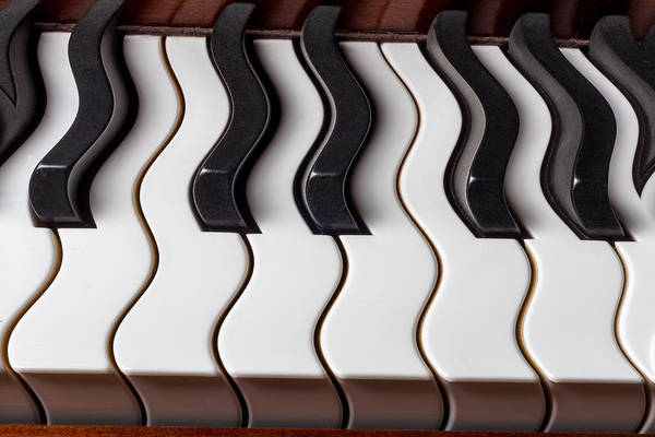 Wall Art - Photograph - Piano Keyboard Waves by Garry Gay