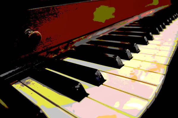 Player Piano Photograph - Piano Keys by Ann Powell