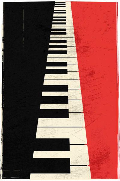 Digital Art - Piano Keys by IamLoudness Studio
