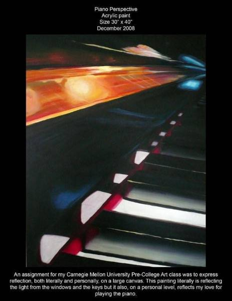 Wall Art - Painting - Piano Perspective by Lauren  Pecor