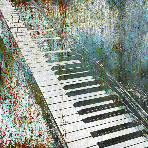 Mixed Media - Blue And Lonesome Piano Concert Symphony Music Musical Musician Music Teacher Student Gift Idea by Tony Rubino