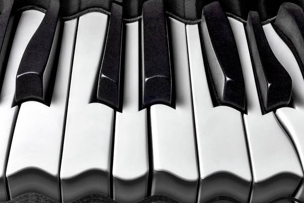 Wall Art - Photograph - Piano Wave Black And White by Garry Gay