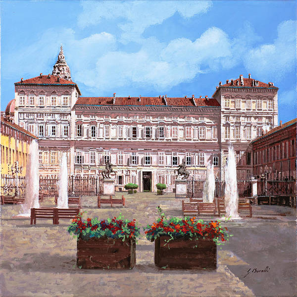 Wall Art - Painting - piazza Castello by Guido Borelli