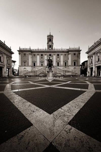 Photograph - Piazza Del Campidoglio by Songquan Deng