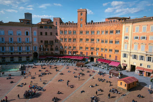 Photograph - Piazza Del Campo Siena Italy by Joan Carroll