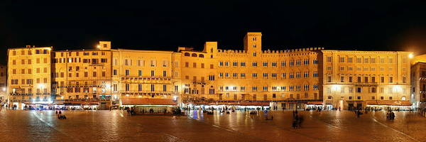 Photograph - Piazza Del Campo Siena Italy Panorama by Songquan Deng
