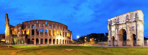 Photograph - Piazza Del Colosseo by Fabrizio Troiani