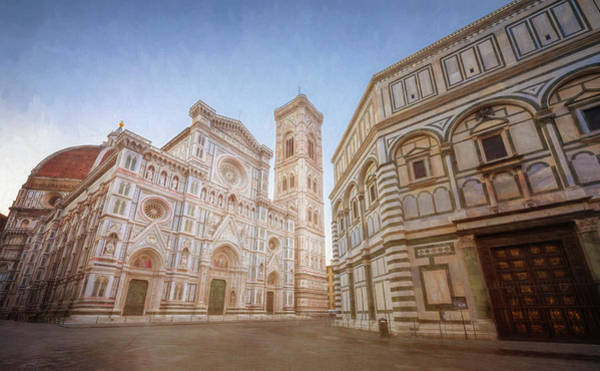 Wall Art - Photograph - Piazza Del Duomo Florence Italy by Joan Carroll