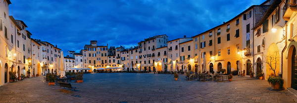Photograph - Piazza Dell Anfiteatro Night Panorama by Songquan Deng