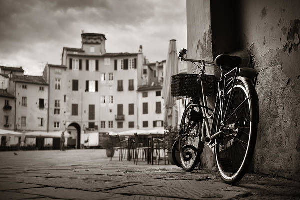 Photograph - Piazza Dell Anfiteatro With Bike by Songquan Deng