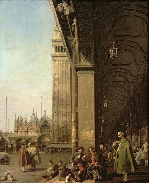 Wall Art - Painting - Piazza Di San Marco And The Colonnade Of The Procuratie Nuove by Canaletto