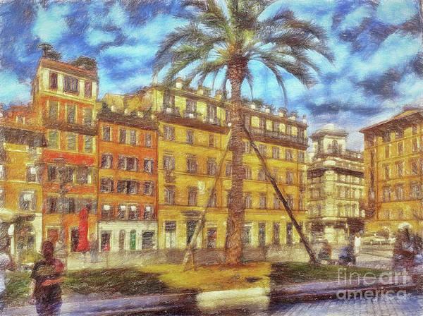 Digital Art - Piazza Di Spagna Rome by Leigh Kemp