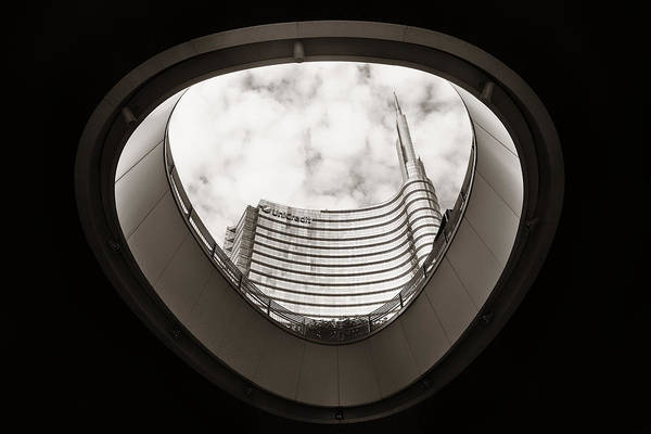 Photograph - Piazza Gae Aulenti by Songquan Deng